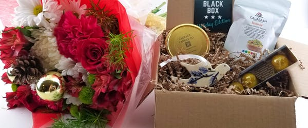 Black Box Holiday Edition with Bouquet