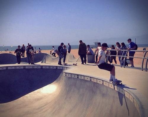 Venice Beach skate park photo