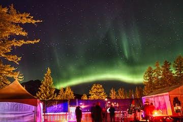 Northern Lights display over The Jasper Planetarium