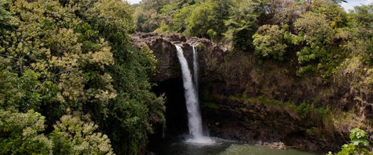 Rainbow Falls on Hawaii