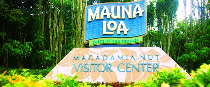 Mauna Loa Macadamia Nut Visitor center sign