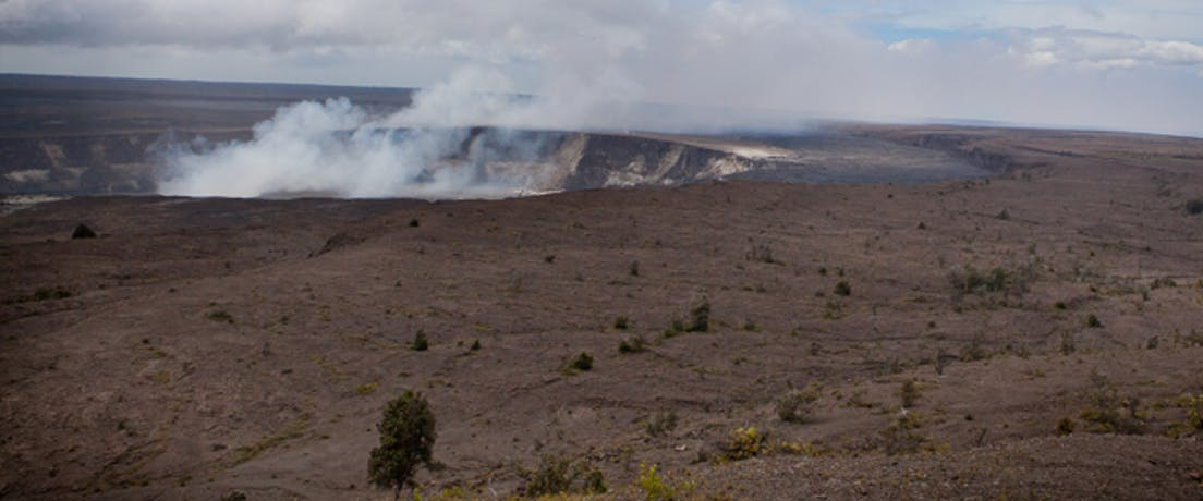 Hawaii volcanic crater