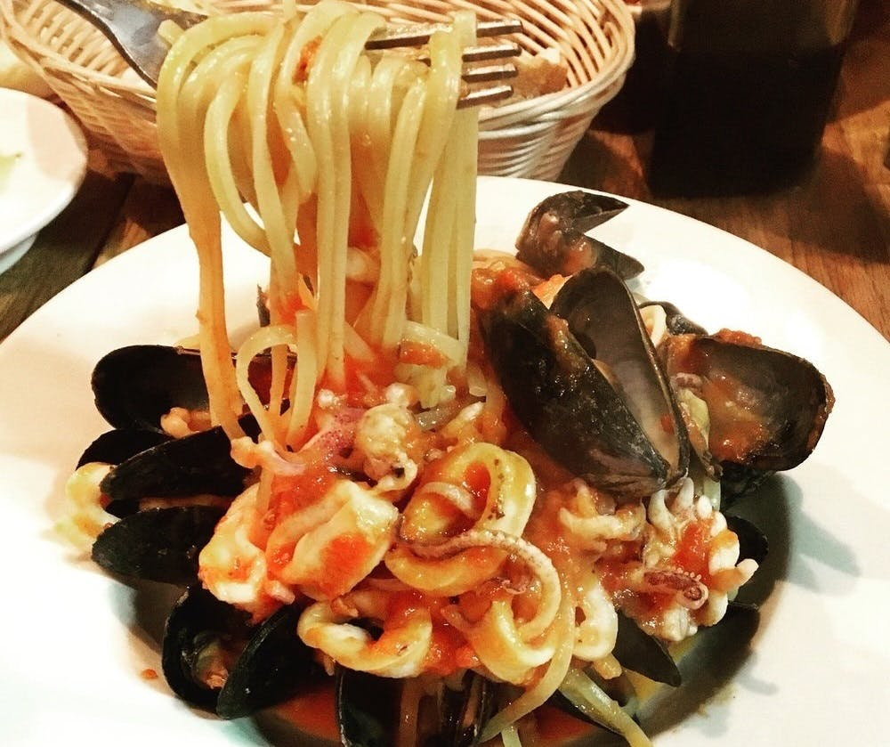 Pepe Rosso To Go Seafood Pasta