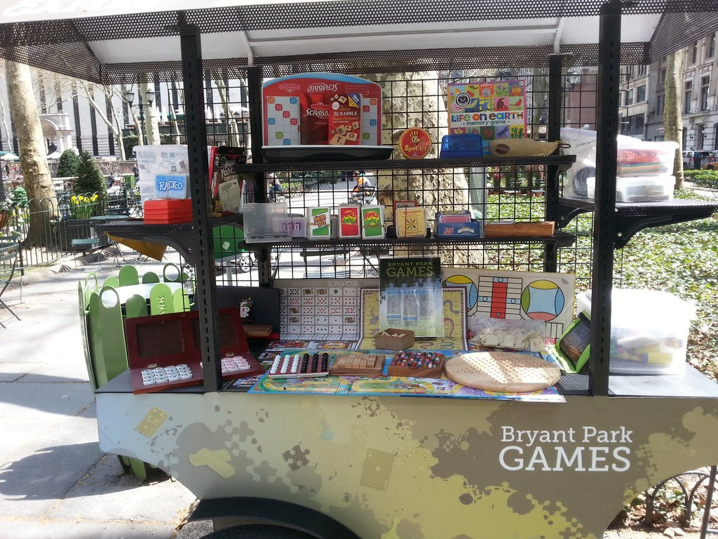 Bryant Park Games Cart
