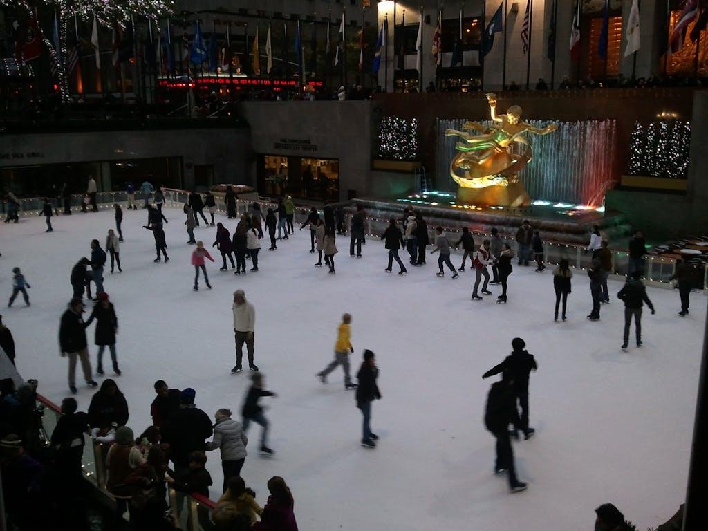 Skating in Rockefeller Center