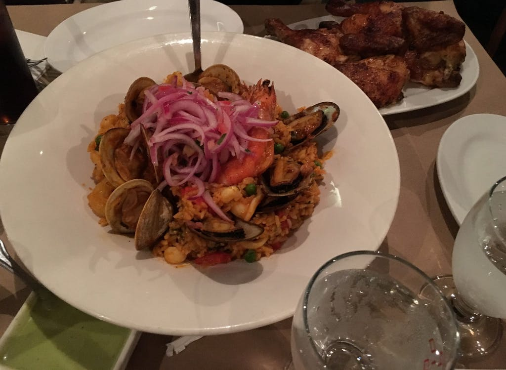 Pio Pio Arroz con Mariscos and Signature Chicken