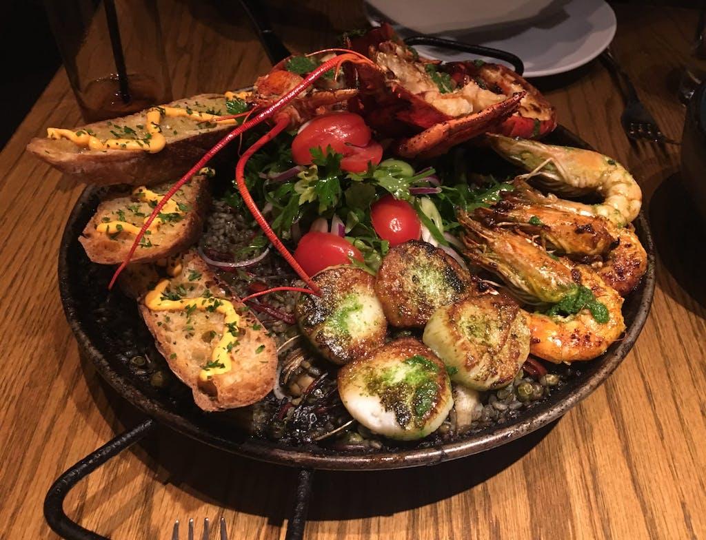 Amada seafood paella