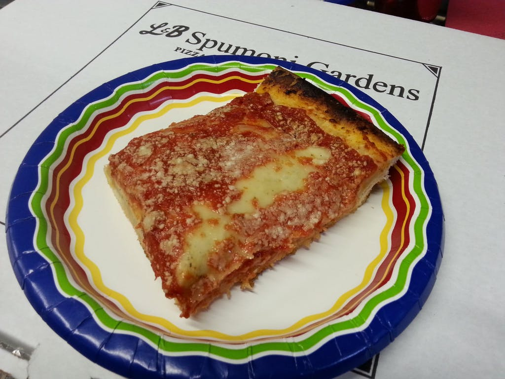 L&B Spumoni Gardens Pizza
