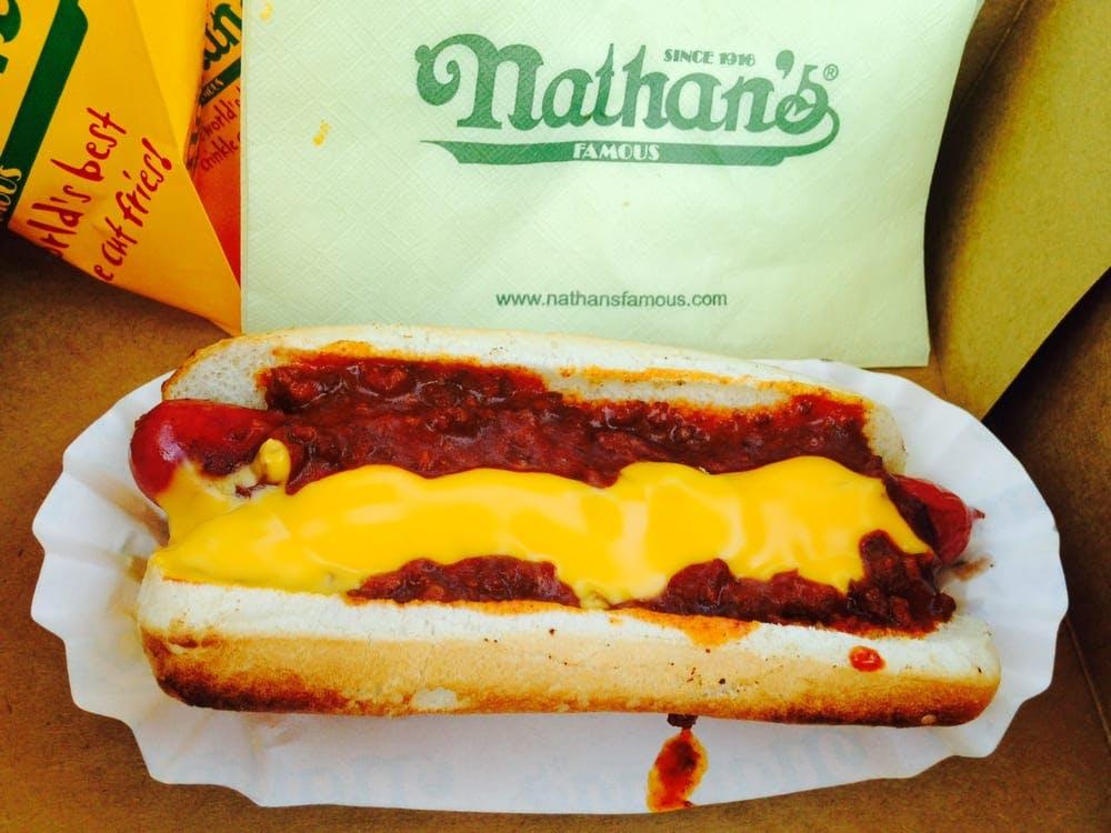 Nathans Famous Chili Dog
