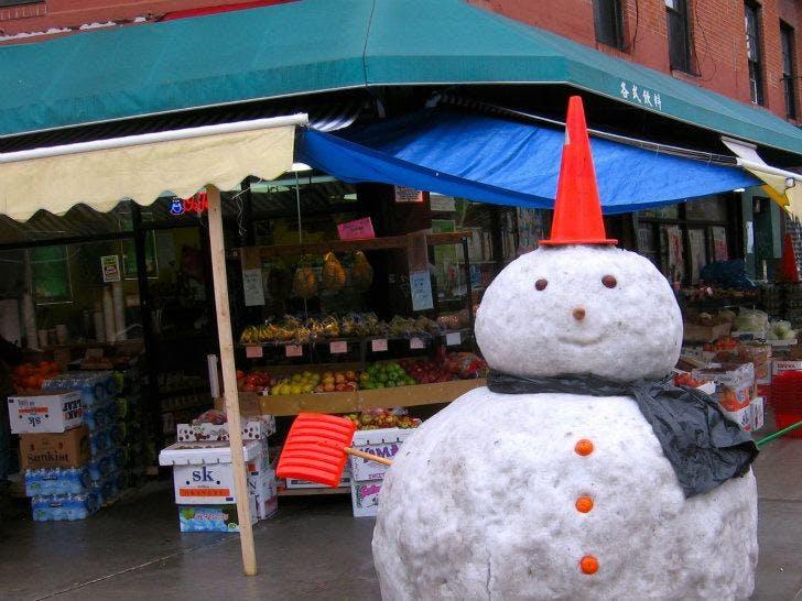 Chinatown Snowman