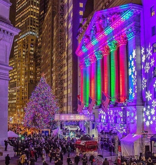 Wall Street during the Holidays