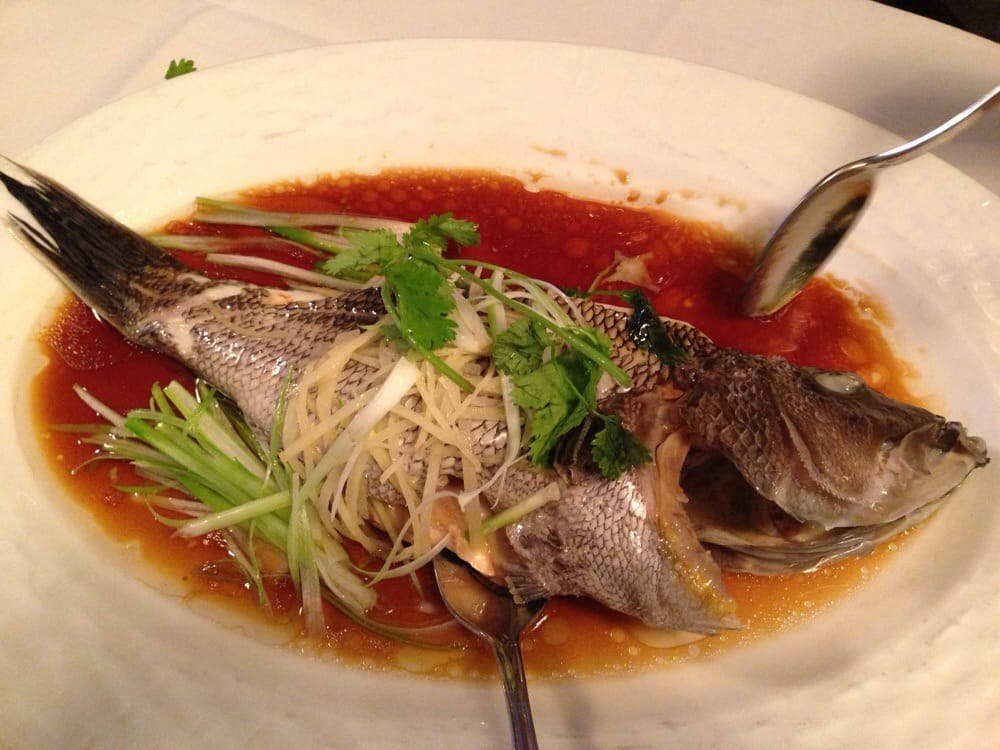 Steamed Sea Bass