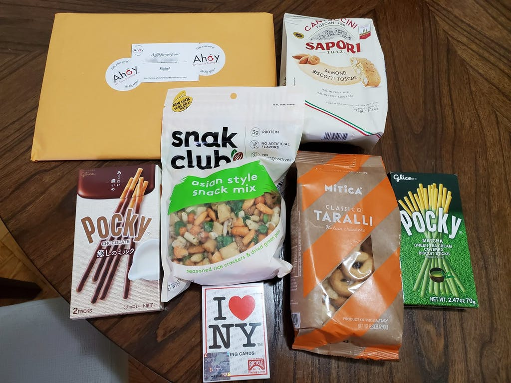 NYC Game Night Kit Snacks and Games