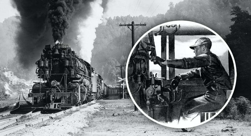 a steam engine train with smoke coming out of it