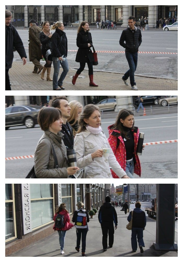 walking along Tverskaya