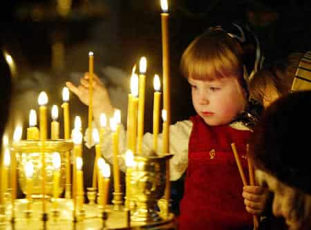 girl in Russian church