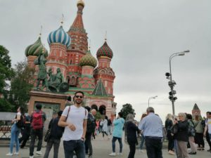 tourist on a red square