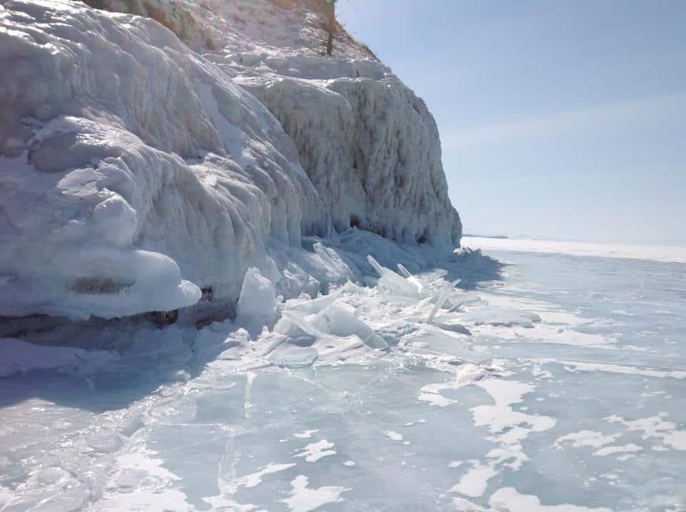Baikal snow and ice