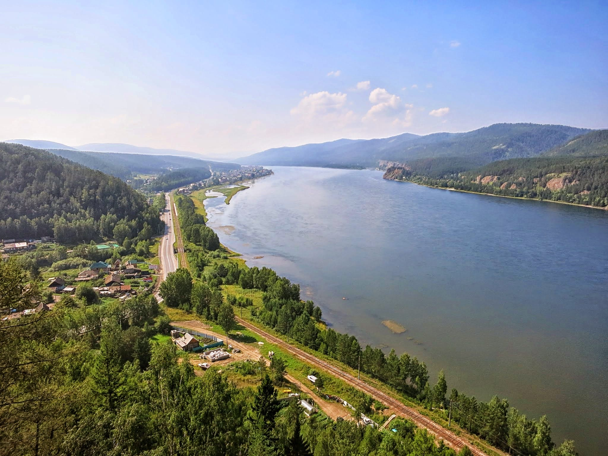 The Yenisei river. A must-stop on Trans-Siberian Railway trip