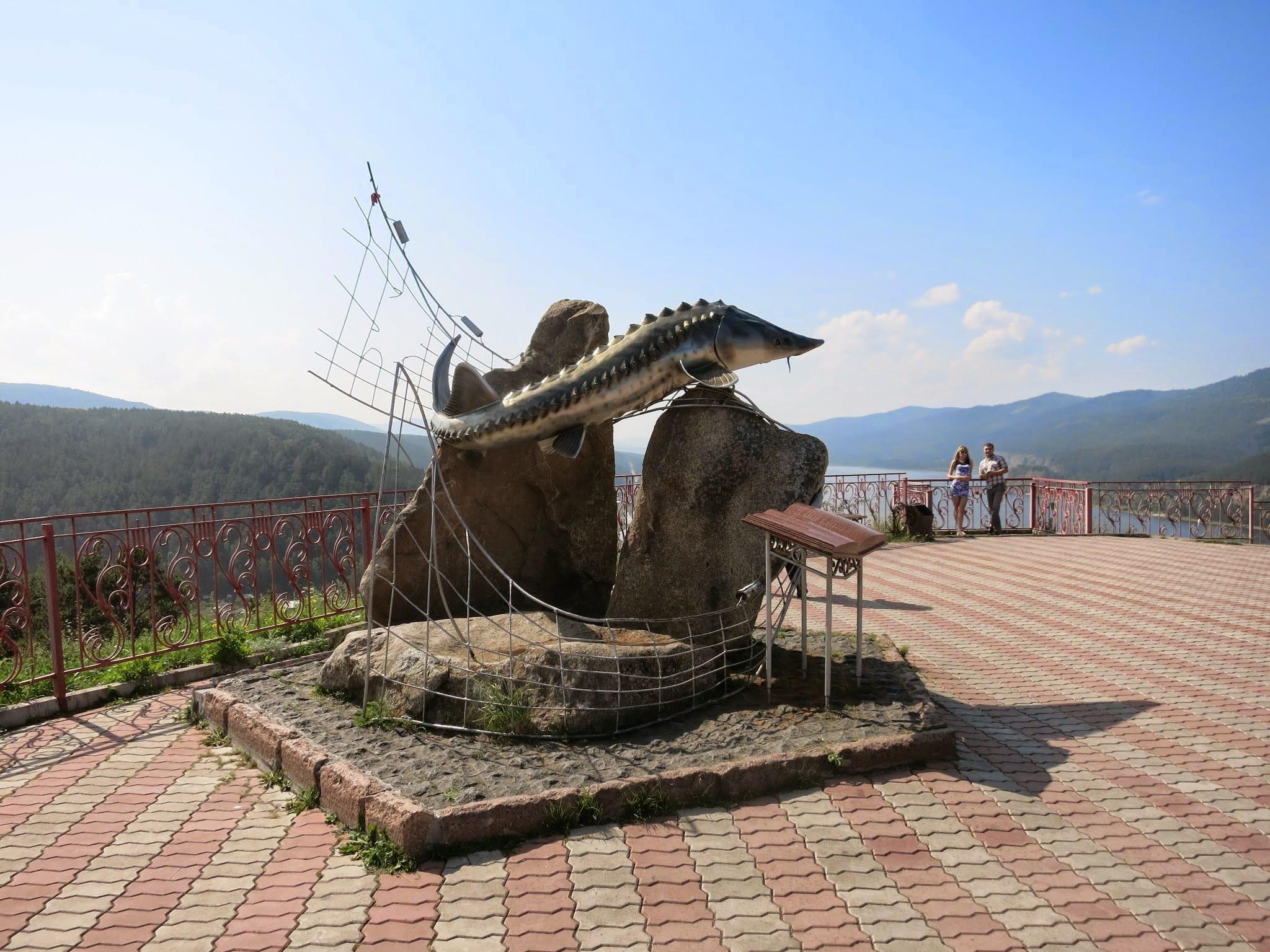 The statue of Tsar-Fish in Krasnoyarsk