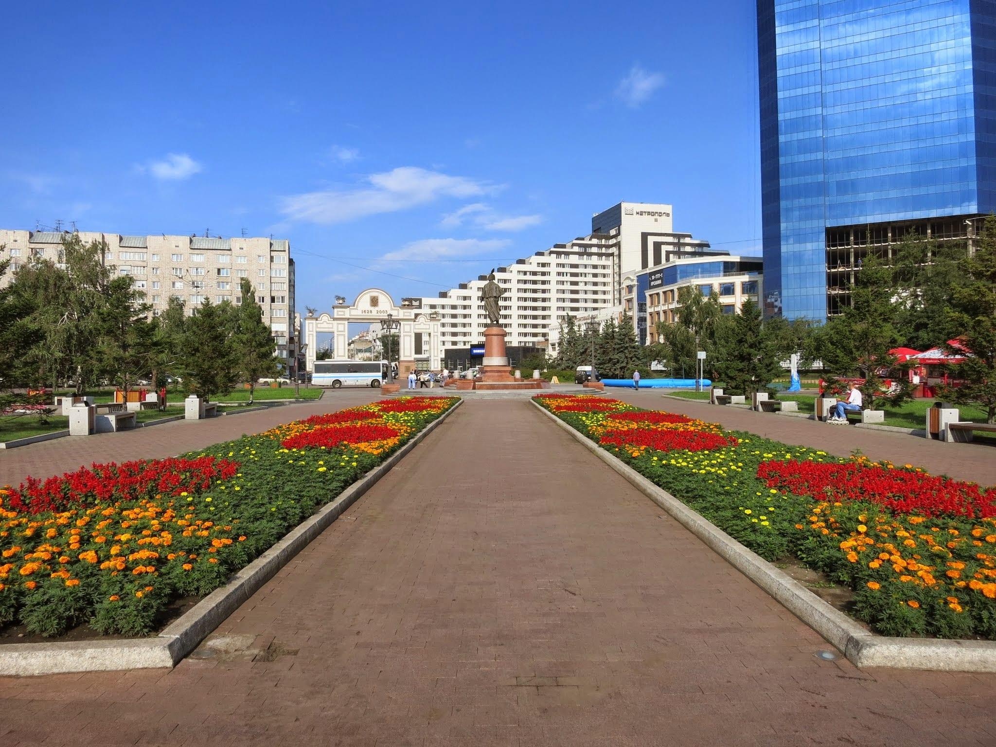 Prospekt Mira in Krasnoyarsk Siberia