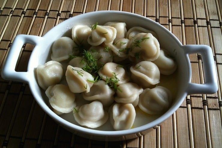 Russian main dish Pelmeni