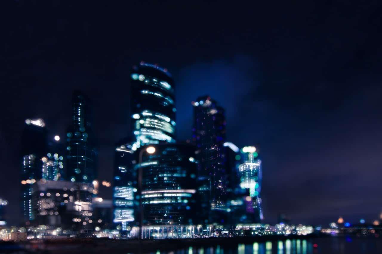Романтическое место Москвы с видом на город