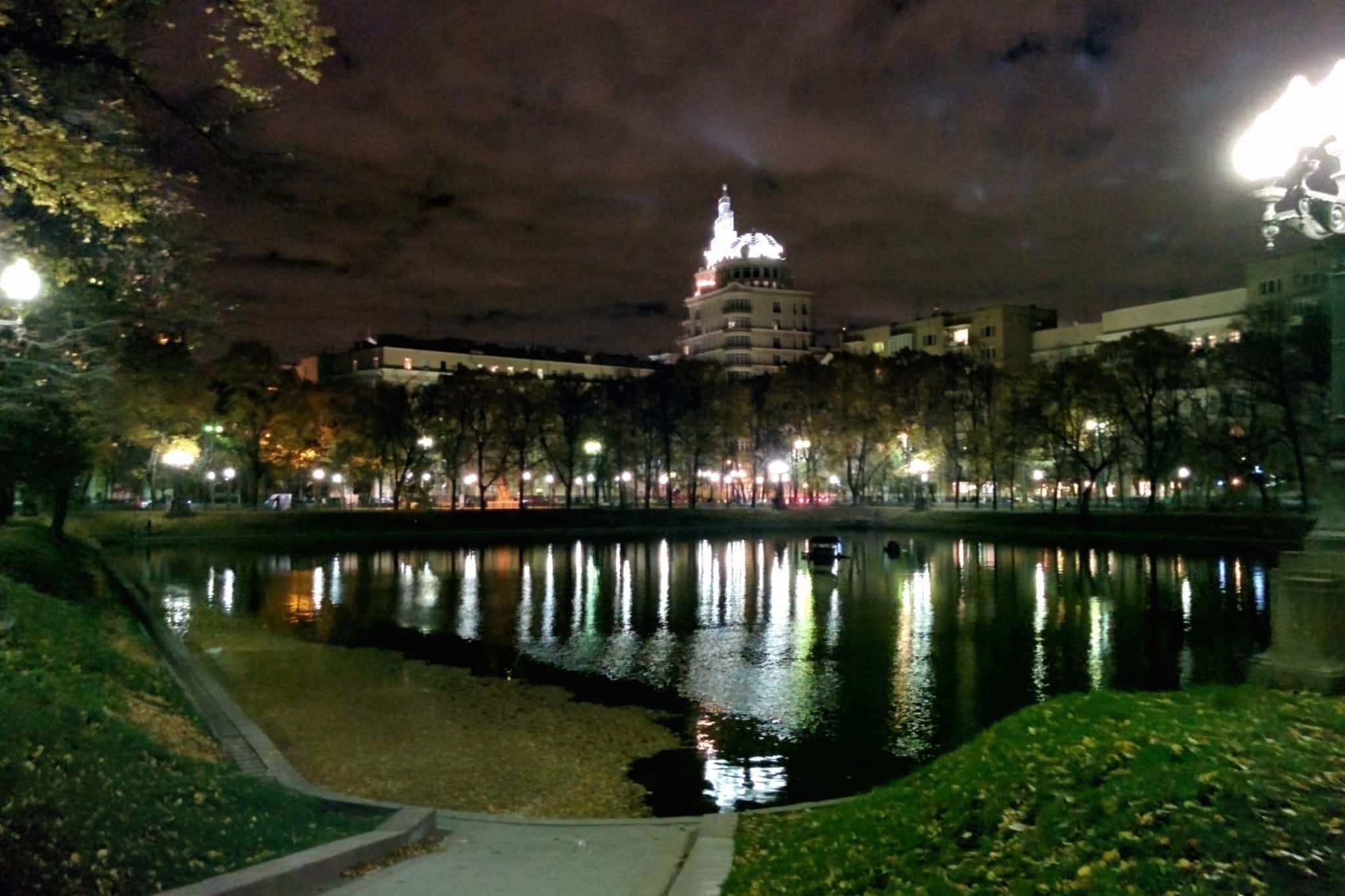 Patriarch Ponds at night