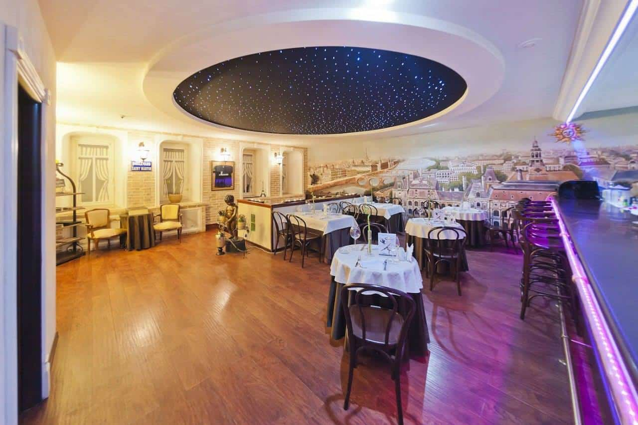 Moscow romantic restaurant