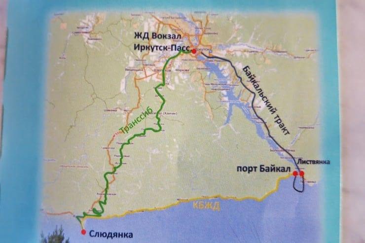 circum baikal railway map