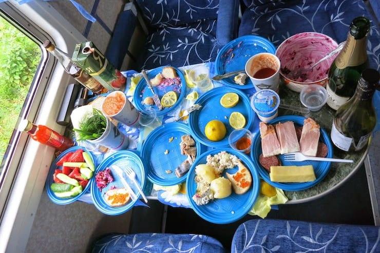 food in circum baikal railway train