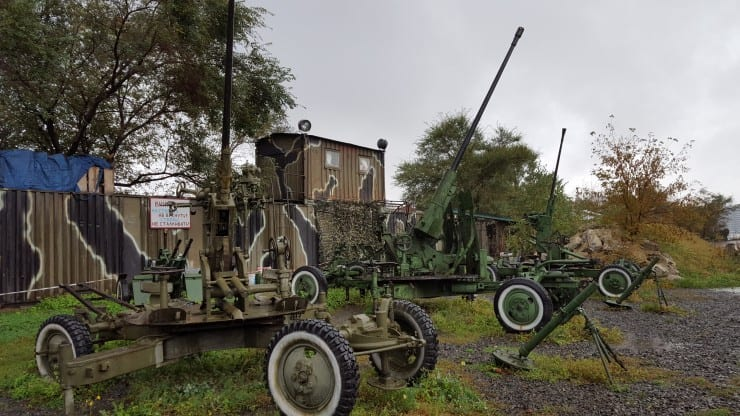 Military vehicles in Vladivostok Fortress Museum