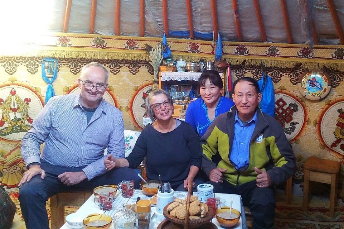 Local Buryat family on the Trans-Siberian Railway tour