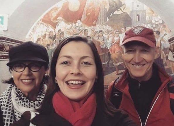 Local Guide Sasha with tourists