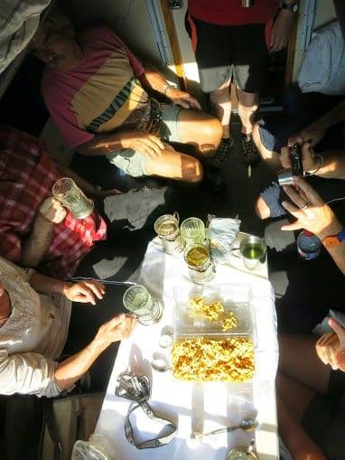 Trans-Siberian railway trip tea