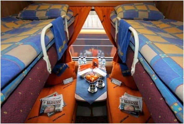 Trans-Siberian train coupe