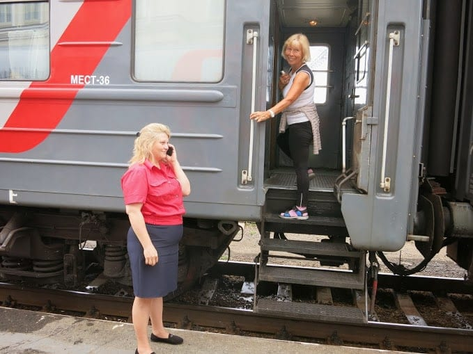 Trans-Siberian Railway train carriage assistant