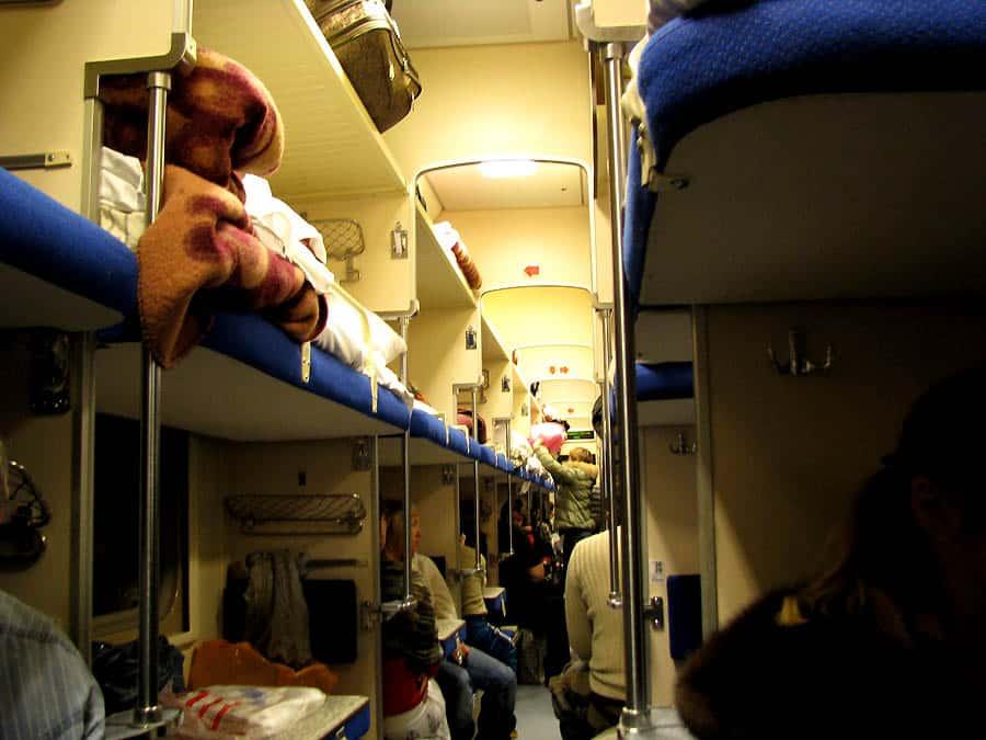 Trans-siberian railway train cabin