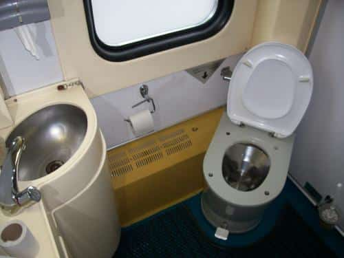 Trans-Siberian railway train toilet