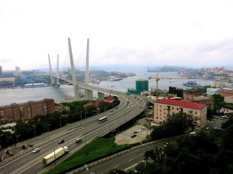 Trans-Siberian stop Bridge in Vladivostok
