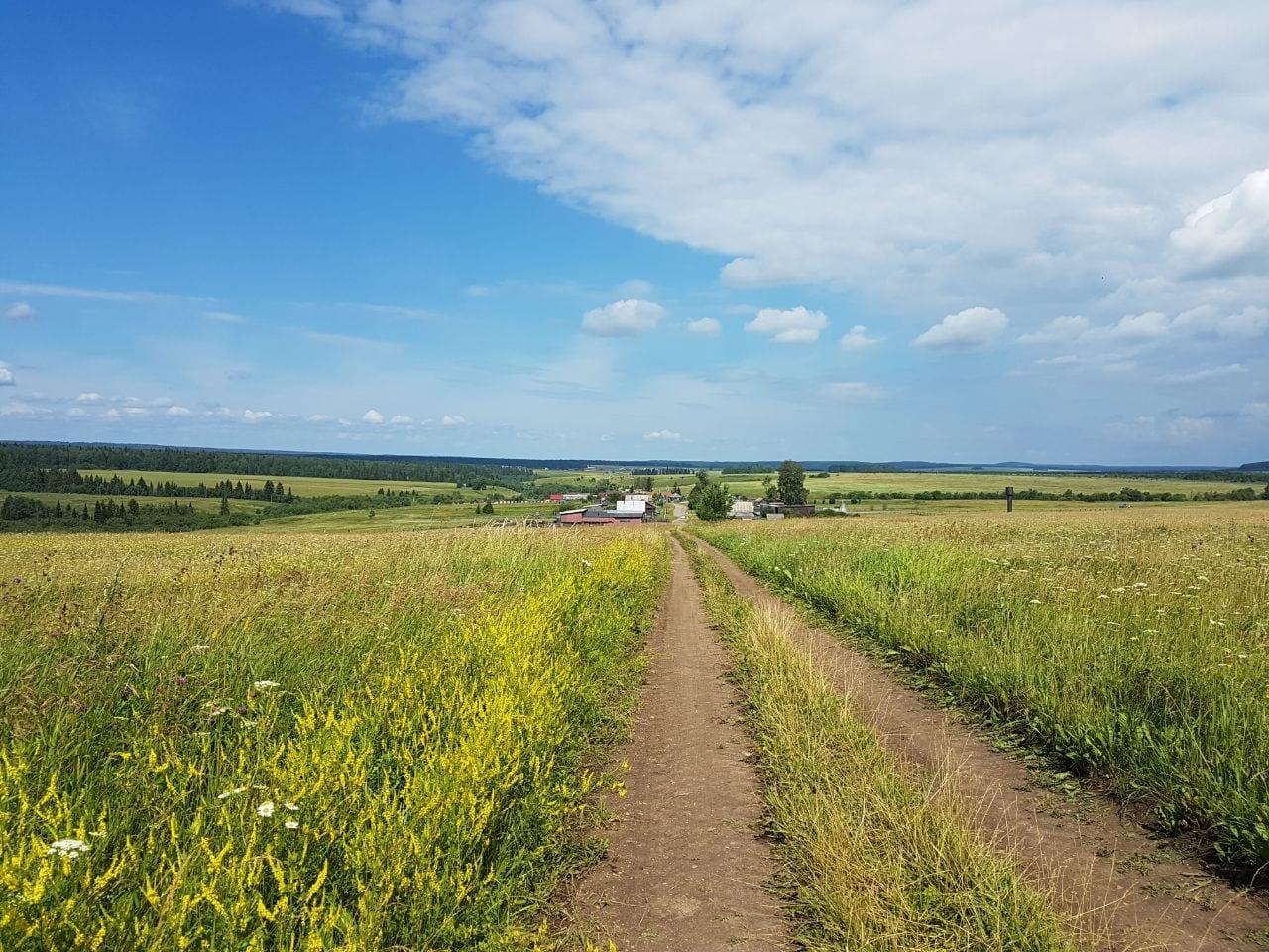 Russian village landscape