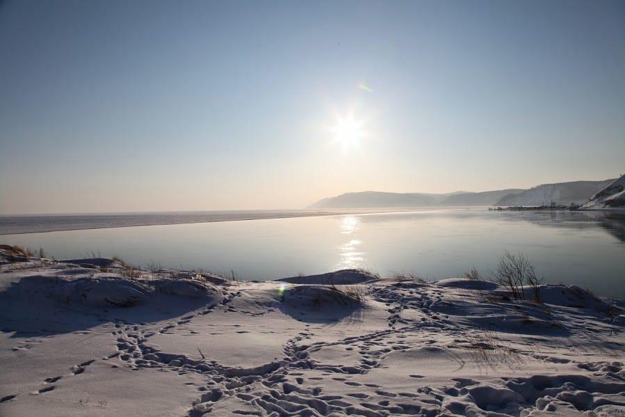 snowy Baikal in winter