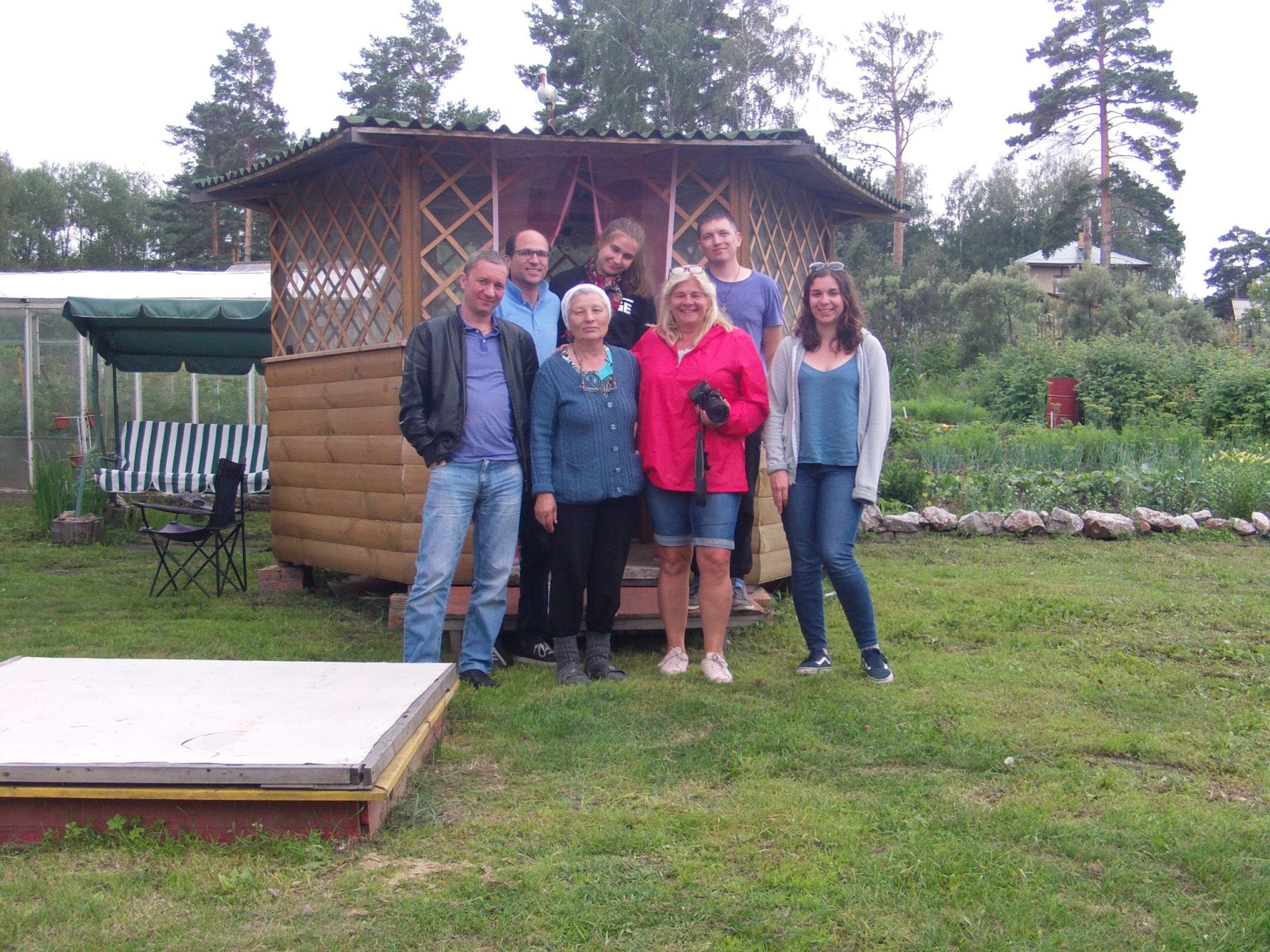 Russian Dacha visit on the Trans-Siberian Railway tour