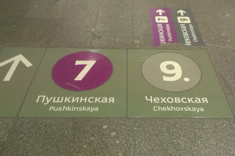 Moscow Metro signes