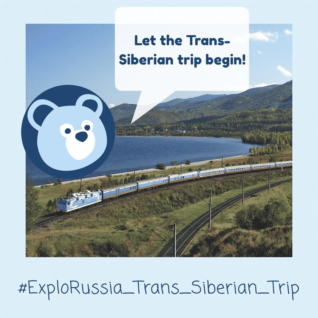 Trans-Siberian Railway Train Summer