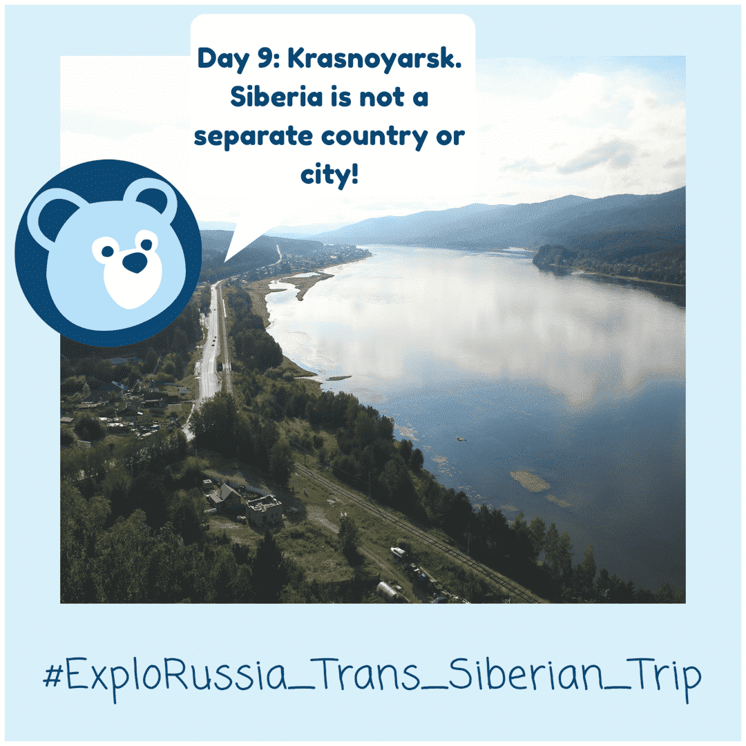 Krasnoyarsk on the Trans-Siberian Railway tour