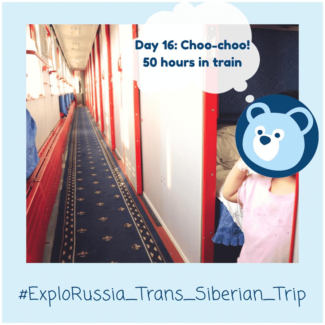 Time in train Trans-Siberian Railway tour