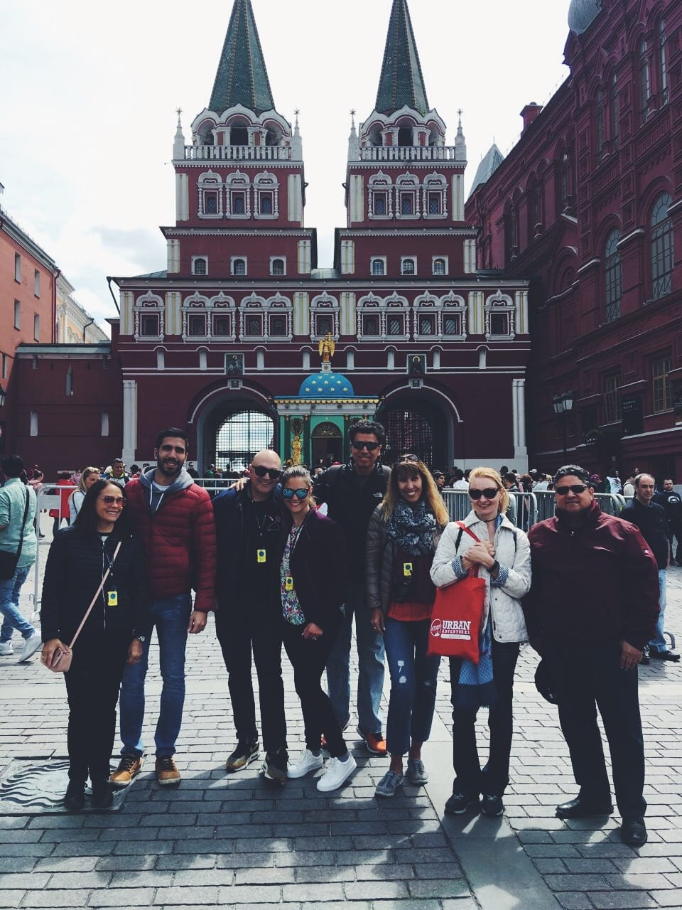 Family from Argentina on a Moscow FIFA 2018