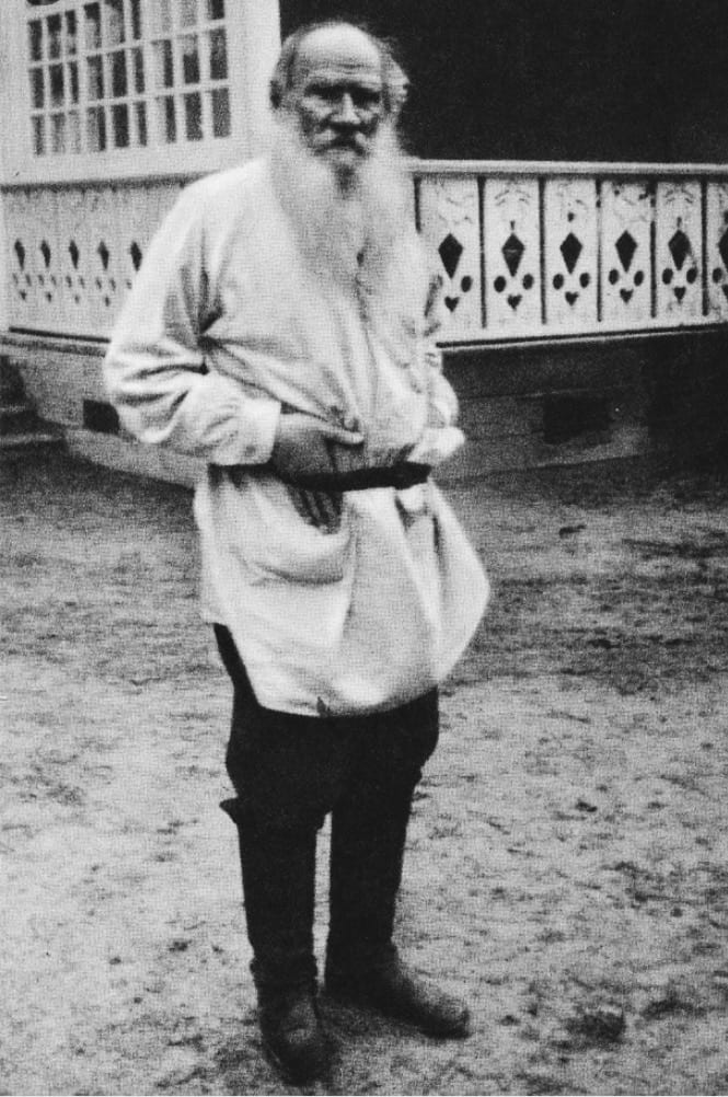 Leo Tolstoy in ordinary clothes