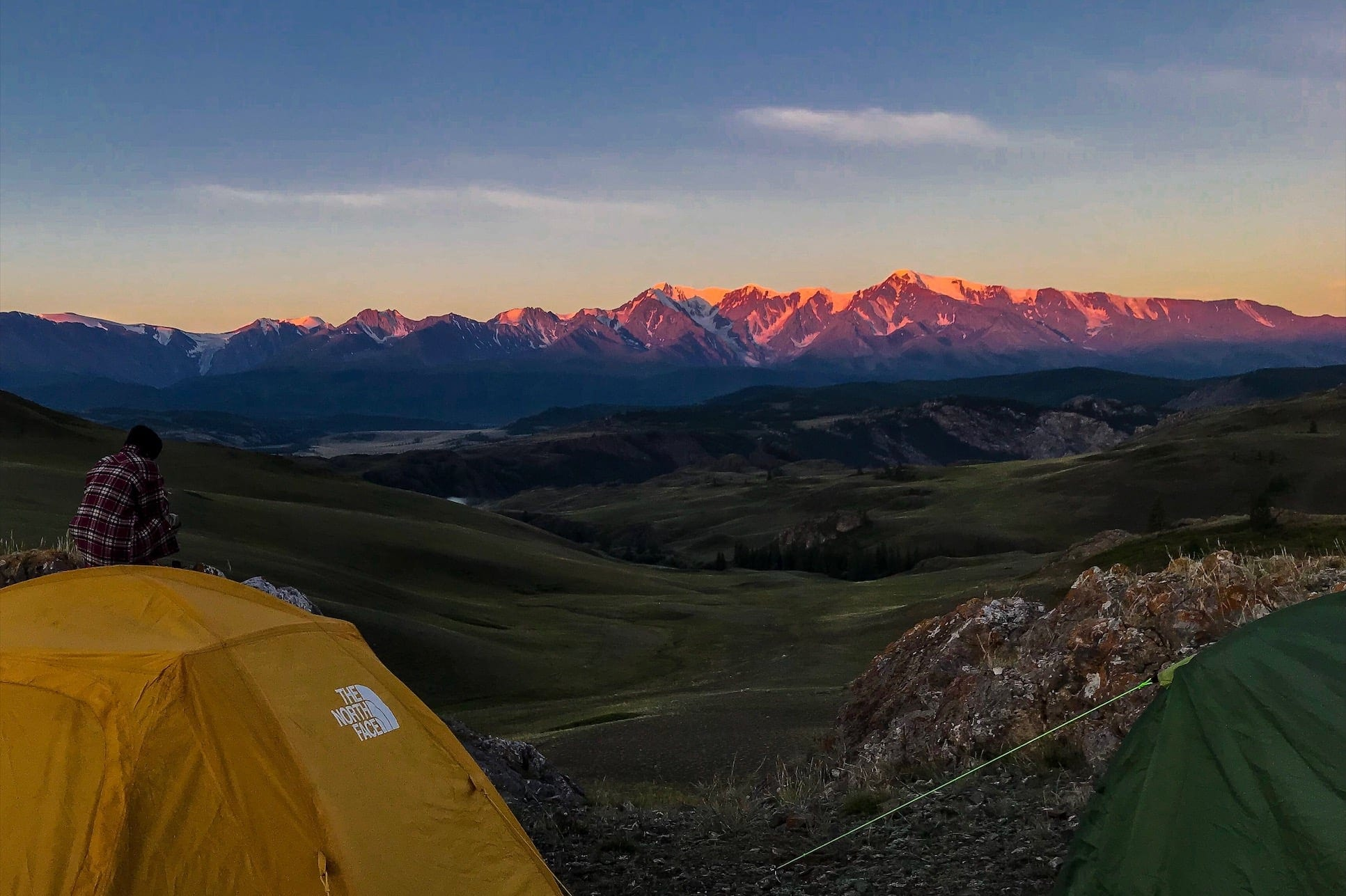 Altai camping in the mountains